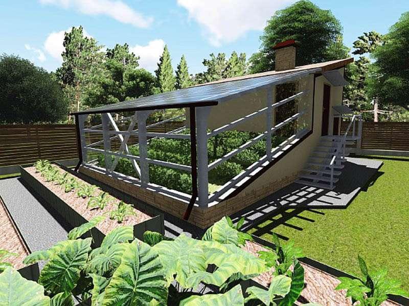 Солнечный вегетарий Иванова строится под уклоном.