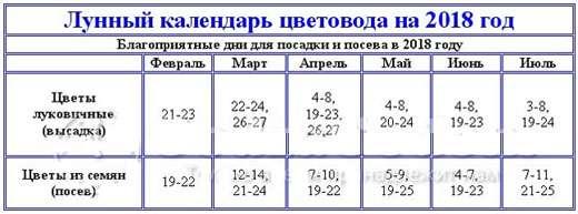 Поэтому любители цветов предпочитают пользоваться уже готовыми подсказками в лунном календаре.