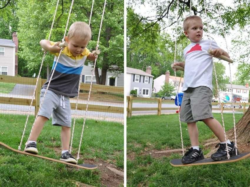 деревянные детские качели для дачи своими руками